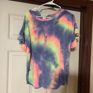 Purple Tie Dye Boutique Top